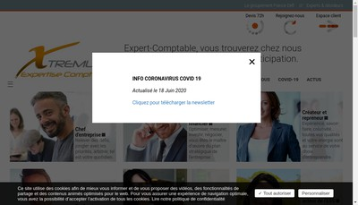 Site internet de Xtremum Audit