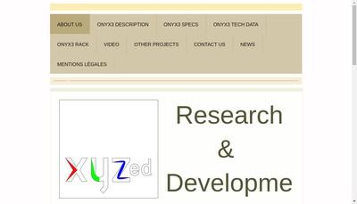 Site internet de Xyzed