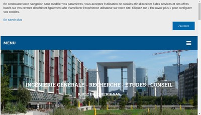 Site internet de Igrec Ingenierie
