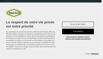 Site internet de Yacco