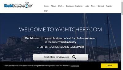 Site internet de Yacht Chefs