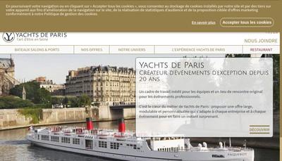 Site internet de Yachts de Paris