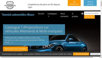 Site internet de Yannick Automobiles Alsace