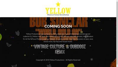 Site internet de Yellow Productions