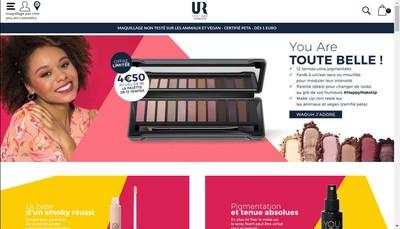 Site internet de You Are Cosmetics