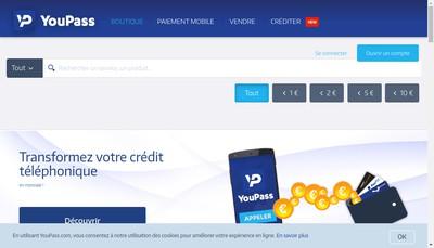 Site internet de Youpass