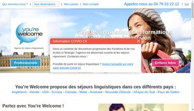 Site internet de You'Re Welcome