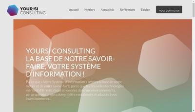 Site internet de Yoursi Consulting