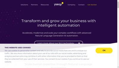 Site internet de Yseop