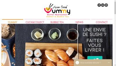 Site internet de Yummy Asian Food