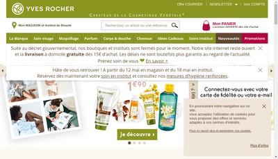 Site internet de Yves Rocher