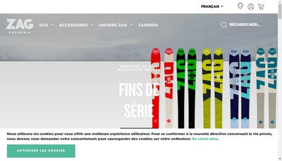 Site internet de Zag Skis