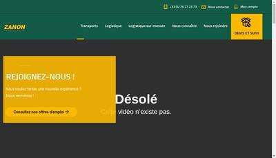 Site internet de Zanon Transports