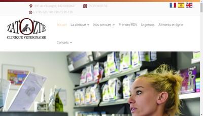 Site internet de SELARL de Veterinaire Zatozte