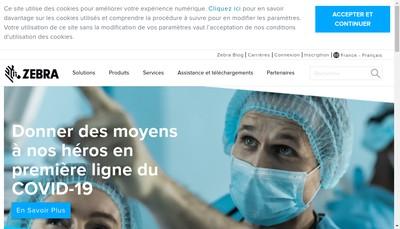 Site internet de Zebra Technologies France