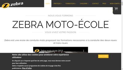 Site internet de Zebra Moto Ecole