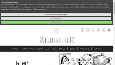 Site internet de Zebrure