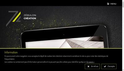 Site internet de Zebulon Creation