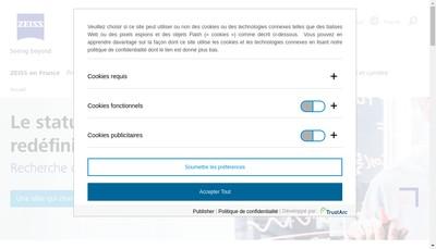 Site internet de Carl Zeiss Meditec SAS