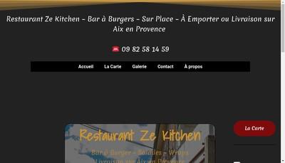 Site internet de Ze Kitchen