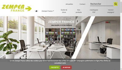 Site internet de Zemper France