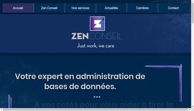 Site internet de Zen-Conseil