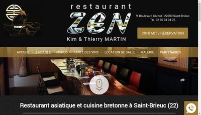 Site internet de Restaurant Zen