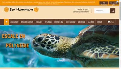 Site internet de Zen Hammam