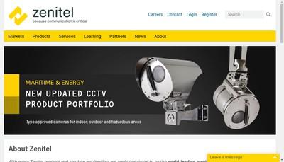 Site internet de Zenitel France