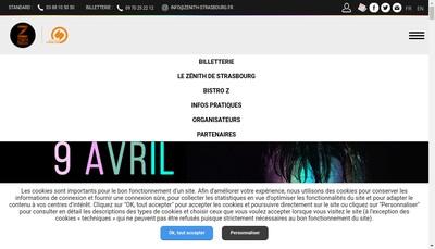 Site internet de SNC Zenith de Strasbourg