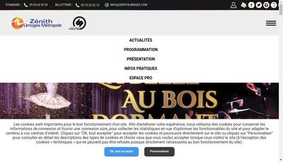 Site internet de SNC Zenith de Limoges