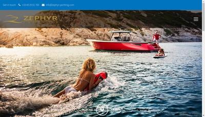 Site internet de Zephyr Yachting France