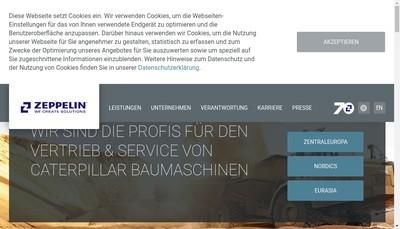 Site internet de Zeppelin Systems France