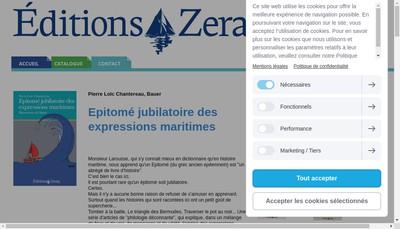 Site internet de Editions Zeraq