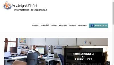 Site internet de Le Zero et l'Infini