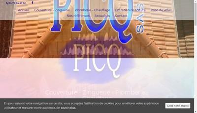 Site internet de Picq SAS