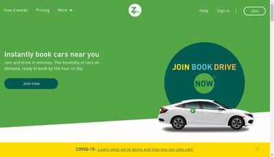 Site internet de Zipcar France