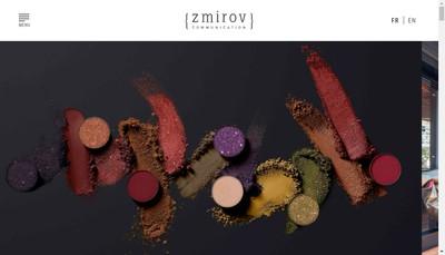 Site internet de Zmirov Communication