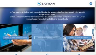 Site internet de Safran Electronics & Defense Actuation