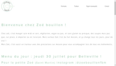 Site internet de Zoe Bouillon