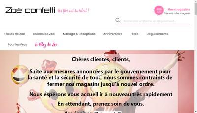 Site internet de Zoe Confetti