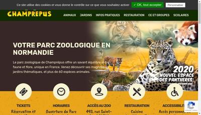 Site internet de Zoo de Champrepus