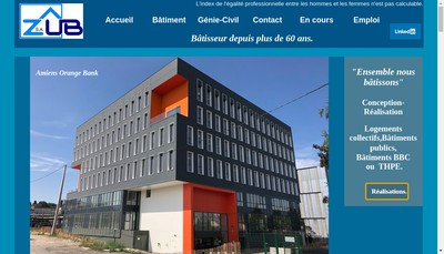 Site internet de SA Zub