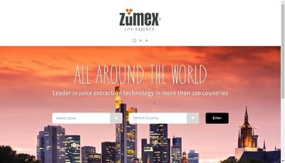 Site internet de Zumex France