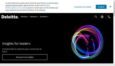 Site internet de Monitor Deloitte