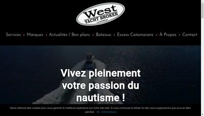 Site internet de West Yacht Broker