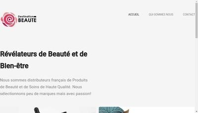Site internet de Destination Beaute