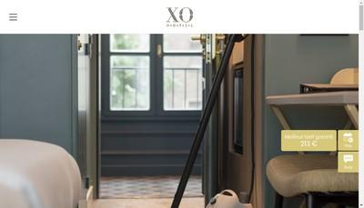 Site internet de Albe Xo Hotel Paris