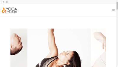 Site internet de The Yogafactory