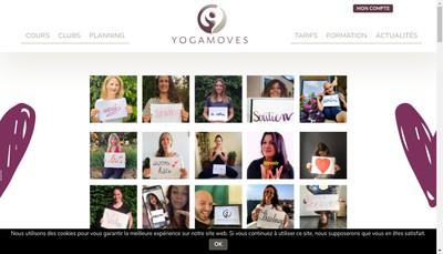 Site internet de Yogamoves